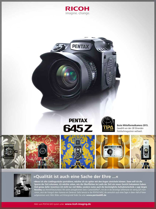 CameraSelfies are the face of the new Pentax645Z campaign